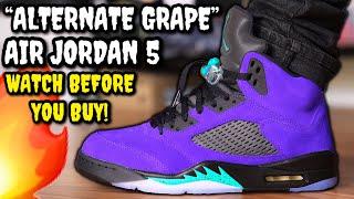 Air Jordan 5 ALTERNATE GRAPE / GRAPE ICE REVIEW & ON FEET! WATCH BEFORE You BUY! Worth $190?