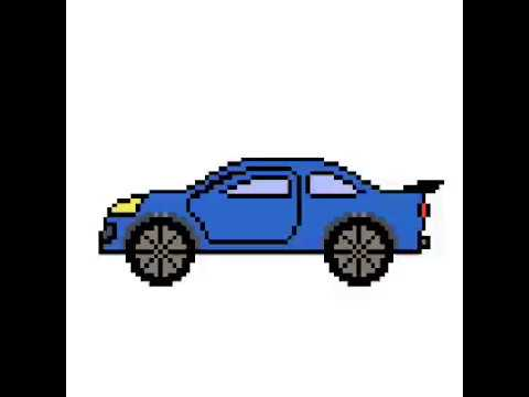 Pixel Art Voiture Bleu Youtube