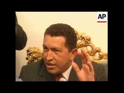 IRAQ: VENEZUELAN PRESIDENT MEETS WITH SADDAM HUSSEIN 1