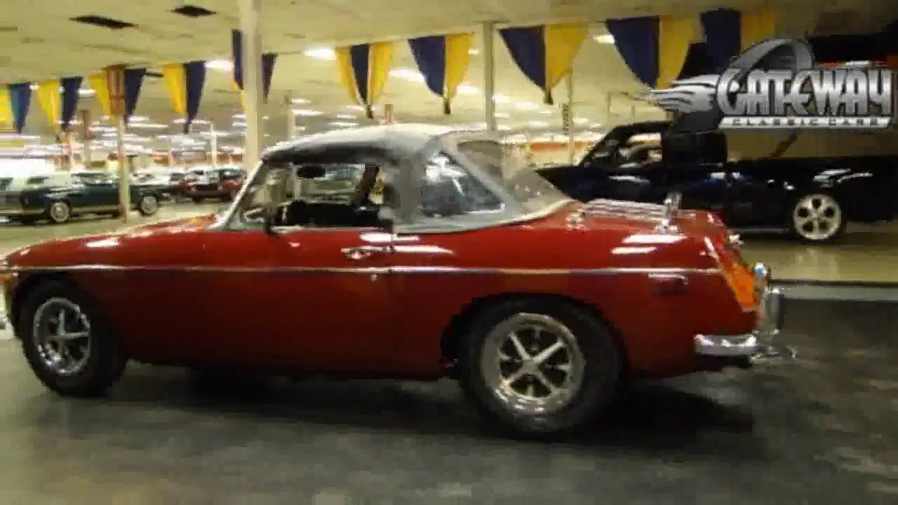 Nice 1974 MGB roadster for sale at Gateway Classic Cars in our St  Louis  showroom