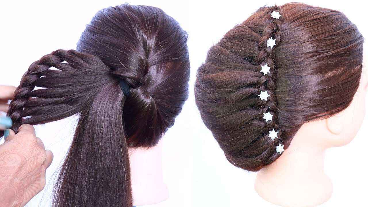 Latest Updo Hairstyle For Medium Hair With Trick Trending