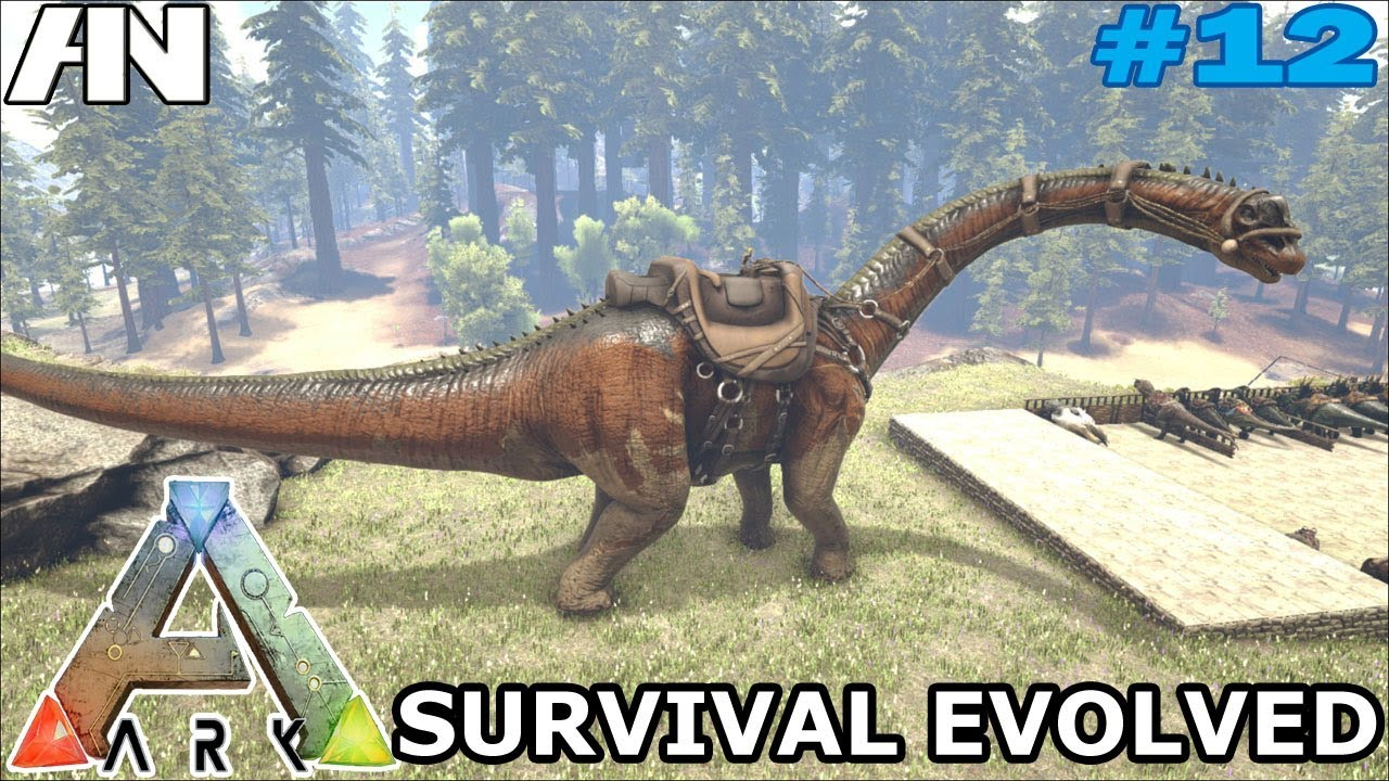 ark survival evolved bronto taming 12 youtube
