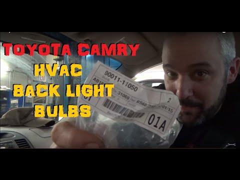 Toyota Camry - Climate Control Bulbs