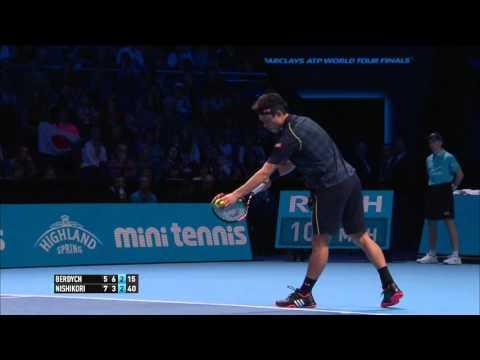 Kei Nishikori (2) vs (0) Tomas Berdych - Barclays ATP World Tour