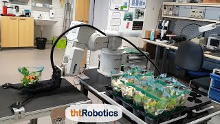 Adaptive Robotic Gripper. Packaging of flowers