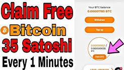 Claim 35 Bitcoin Satoshi  Every 1 Minute 100% Free   Claim Free bitcoin every 1 minutes