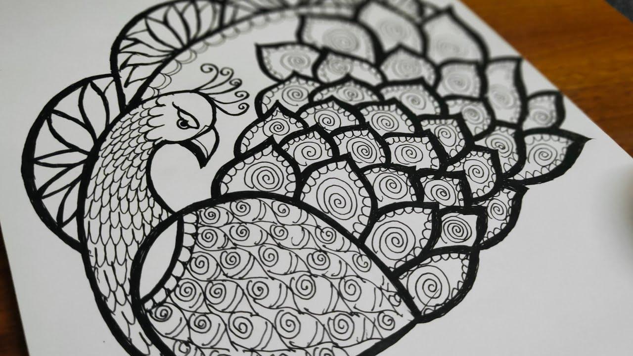 Peacock mandala Art|Peacock Mandala Art for beginners ...