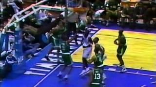 Rookie Kevin Garnett (33pts) vs. Celtics (1996)