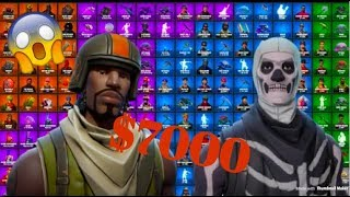 STACKED *$7000* FORTNITE ACCOUNT!! RAREST AND MOST EXPENSIVE FORTNITE ACCOUNT IN THE WORLD!!
