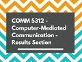 Computer-Mediated Communication - Results Section