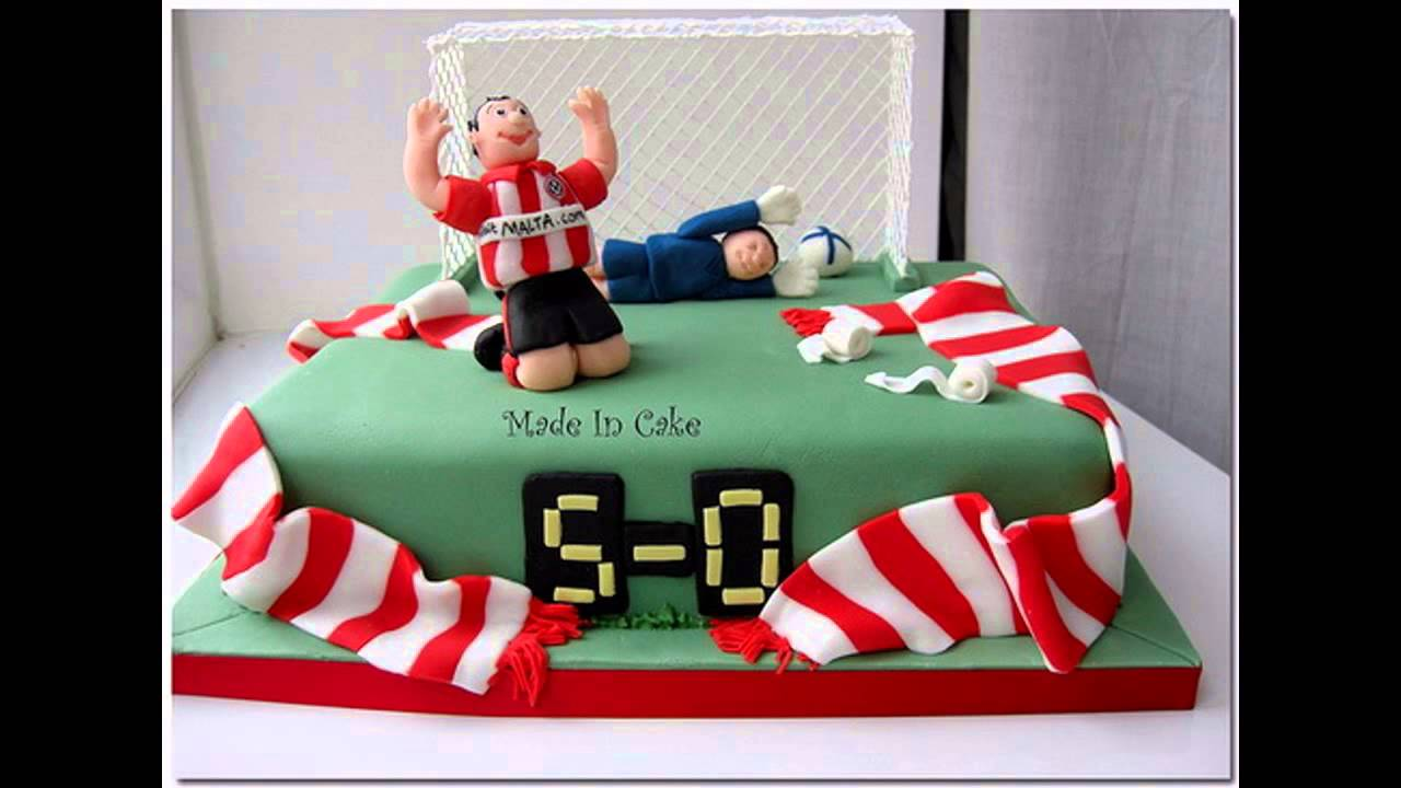 Cake Decorating Ideas For Football : Easy Football cake decorations - YouTube