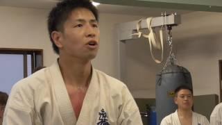 新極真会福島支部 三瓶道場 野崎秀寿の10人掛け組手。拳に込めた魂の継承!
