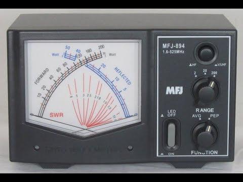 MFJ-894 giant cross needle SWR power meter