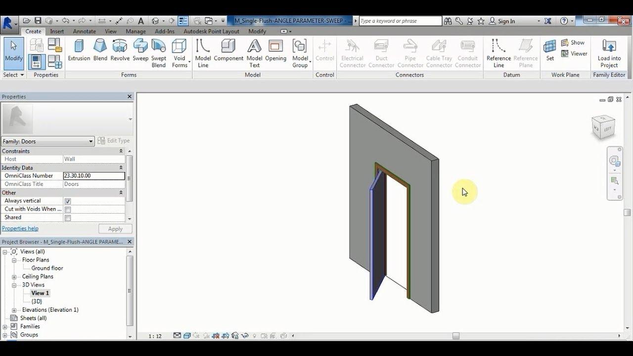 Revit Tutorial  Create Family (Door) With Angle Parameter ( Arabic)  sc 1 st  YouTube & Revit Tutorial : Create Family (Door) With Angle Parameter ...