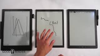 sony DPT-RP1 vs Good e-Reader 13.3 vs Onyx Max Boox Carta
