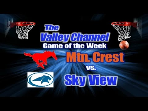 Mountain Crest High School at Sky View High School basketball game 1-6-17