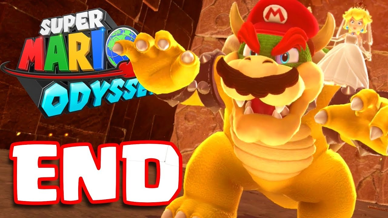 super mario odyssey ending bowser final boss battle secret
