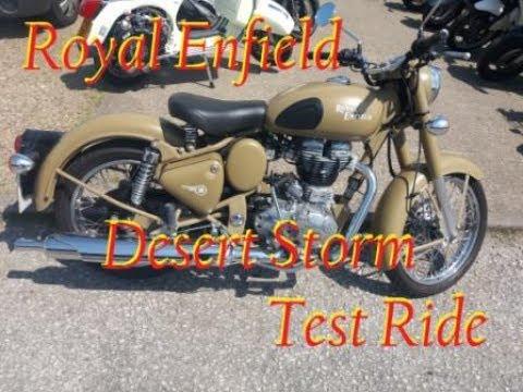 Royal Enfield Desert Storm Test Ride.