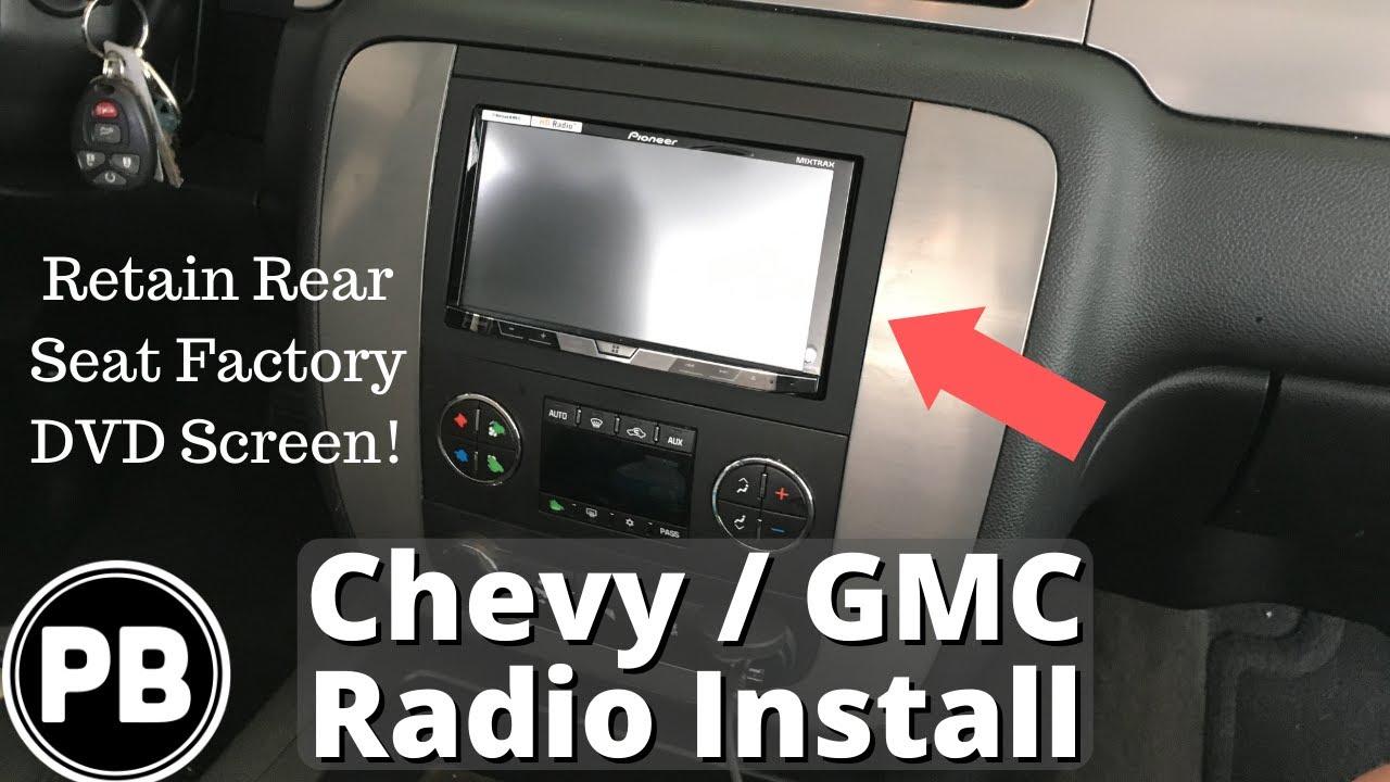 2007 2014 chevy gmc stereo install tahoe suburban yukon impala avalanche [ 1280 x 720 Pixel ]