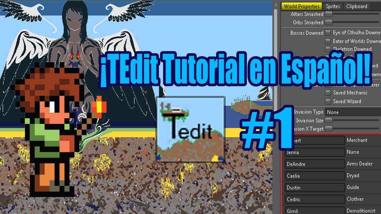 Tutorial de TEdit en Español #1 (Herramientas)