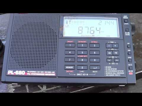 Strong signal from Chesapeake Virginia Maritime weather 8764 Khz Shortwave