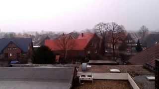 Германия:  зимняя погода, январь 2015 года(Ураган с дождём., 2015-01-10T13:57:58.000Z)