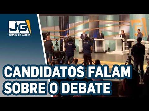 Presidenciáveis falam sobre o debate na TV Gazeta