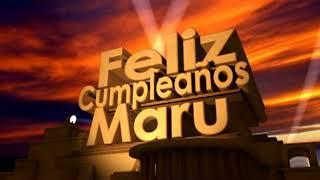 feliz cumpleaños Maru