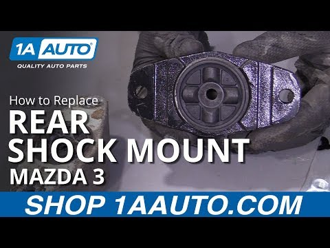How to Replace Rear Shock Mount 04-13 Mazda 3