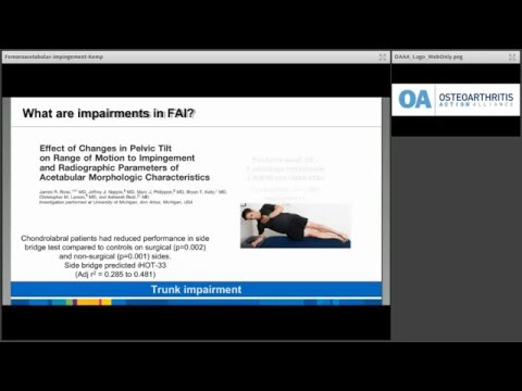 OAAA Lunch & Learn: Femoroacetabular impingement: what is best practice physical therapy?