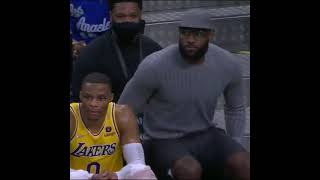 LeBron helping coach the players while out with an injury | #Shorts