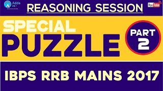 Special Puzzle For IBPS RRB MAINS 2017 (Part-2) | Reasoning | Online Coaching for SBI IBPS Bank PO 2017 Video