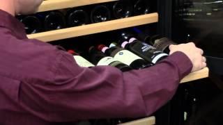 Wine Enthusiast Nfinity 121-bottle Wine Cellar Dual Temperature Black Trimmed Door