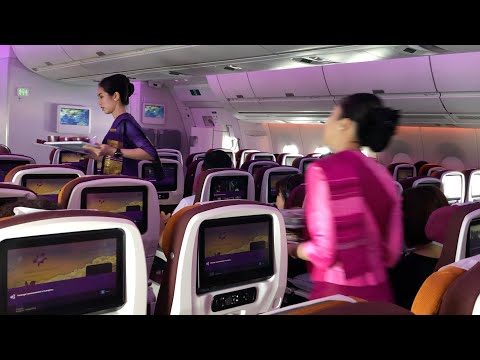 THAI Airways A350 ECONOMY Class: TG606 Bangkok To Hong Kong