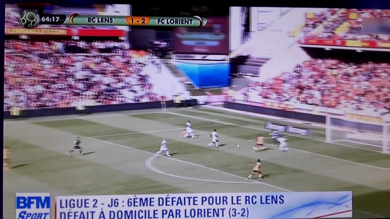 r u00e9sum u00e9 du match lens-lorient 6 u00e8me journ u00e9e de dominos ligue 2 2017-2018