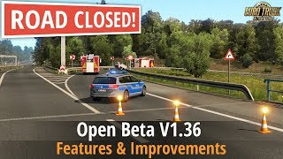 ETS2 v1 36 Open Beta New Island Detours Weigh Stations New Border Crossing