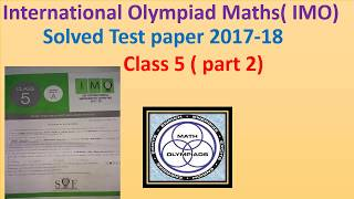IMO class5 test paper 2017 -part2
