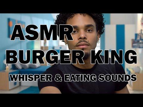 MUKBANG #ASMR : WHISPER AND EATING SOUNDS BURGER KING 1080P