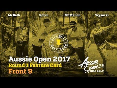 2017 Aussie Open Round 1 Feature Card Front 9 (McBeth, Wysocki, McMahon, Koivu)