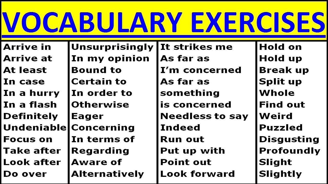 Resultado de imagem para english exercises