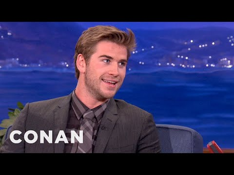Liam Hemsworth And His Brothers Fought With Fists & Knives - CONAN on TBS