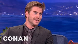 Liam Hemsworth And His Brothers Fought With Fists & Knives - CONAN on TBS thumbnail