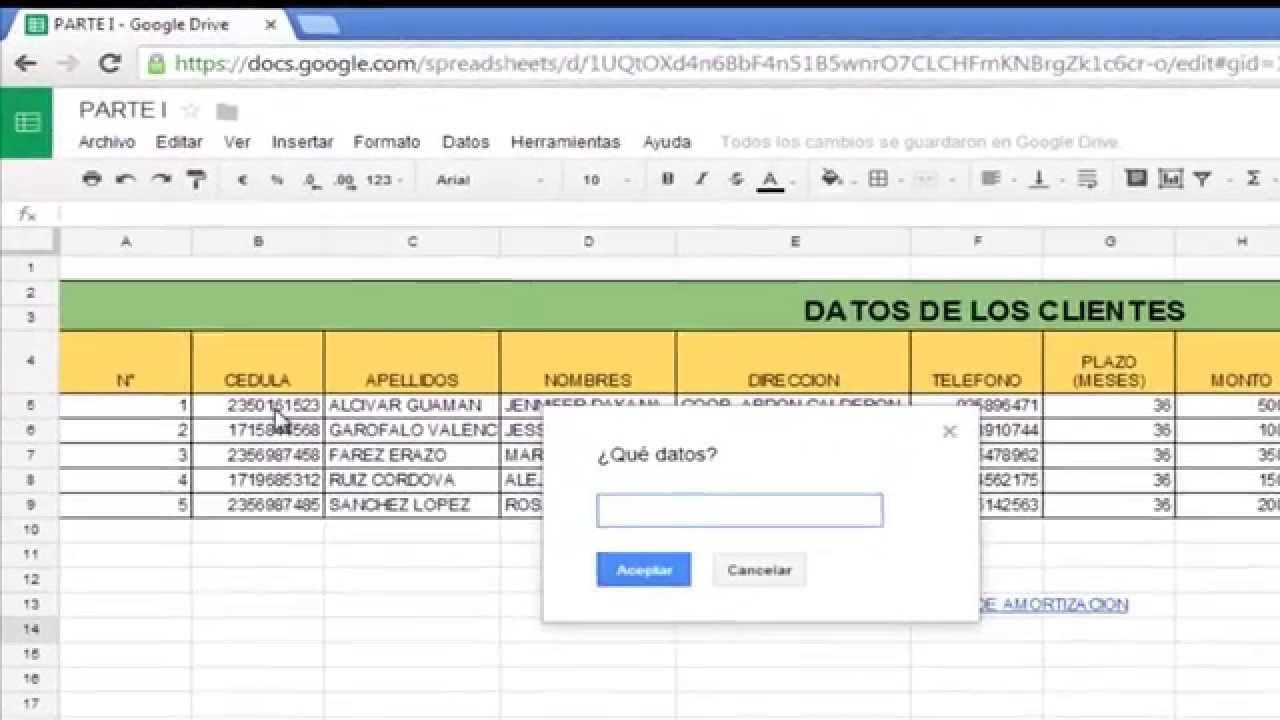 Lista Desplegable en Google Drive - YouTube