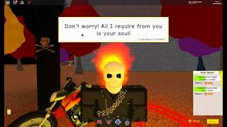 Roblox Super Power Training Simulator ghost rider