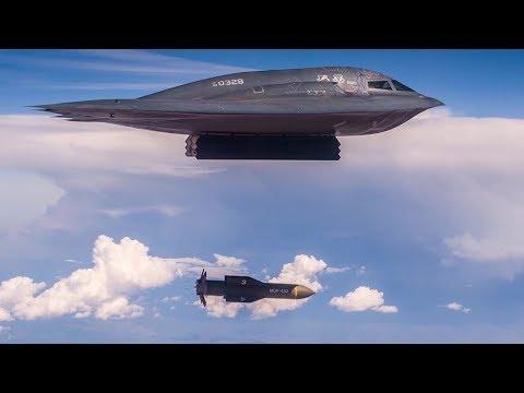 B-2 Spirit Bomber Drops Massive Ordnance Penetrator Bomb להורדה