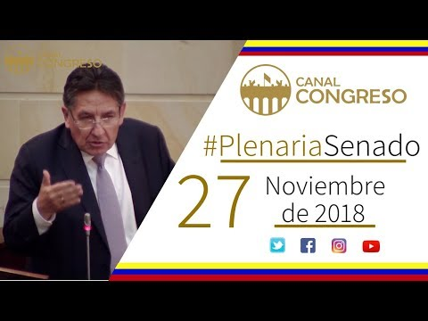 #PlenariaSenado - 27 de Noviembre de 2018