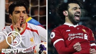 Luis Suarez 2013-14 vs. Mohamed Salah 2017-18 at Liverpool | ESPN FC