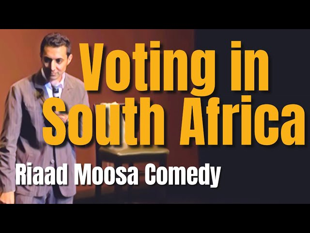 Riaad Moosa Comedy - Voting in South Africa