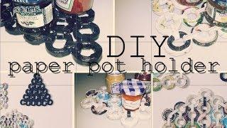 Diy: Paper Pot Holder (recycle Unused Magazine)