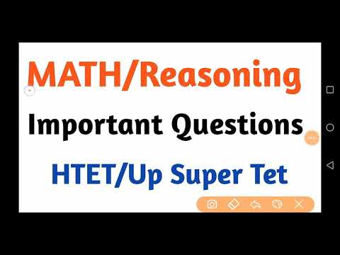 MATH & Reasoning Important Questions For HTET/UP Super Tet/Chandigarh PRT/RPSC 1st grade By Aman